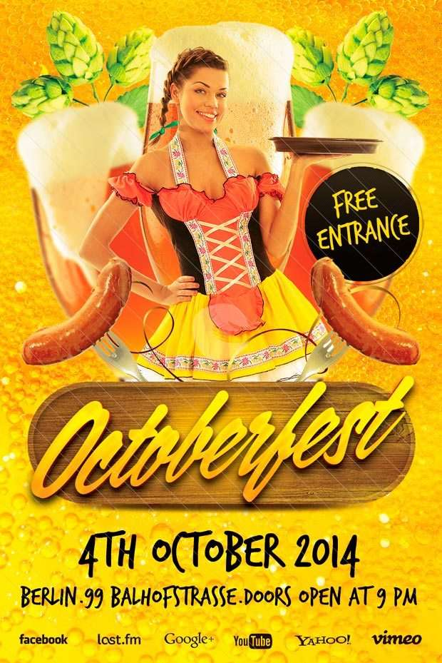 Free Flyer Template: Octoberfest Free Flyer Template