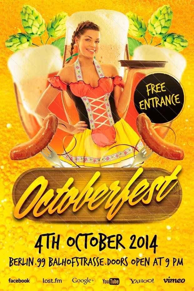 Free Flyer Template Octoberfest