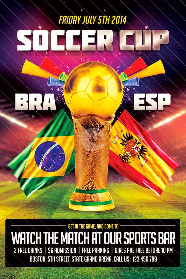 Free Flyer: Soccer Cup Flyer Template
