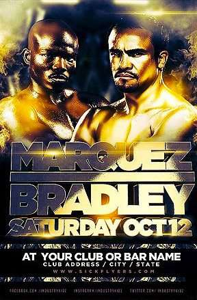 Free Flyer: Bradley Marquez Free Poster Template