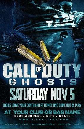 Free Call of Duty Ghosts Psd Flyer Template