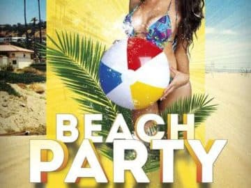 Free Beach Club Party Flyer Template