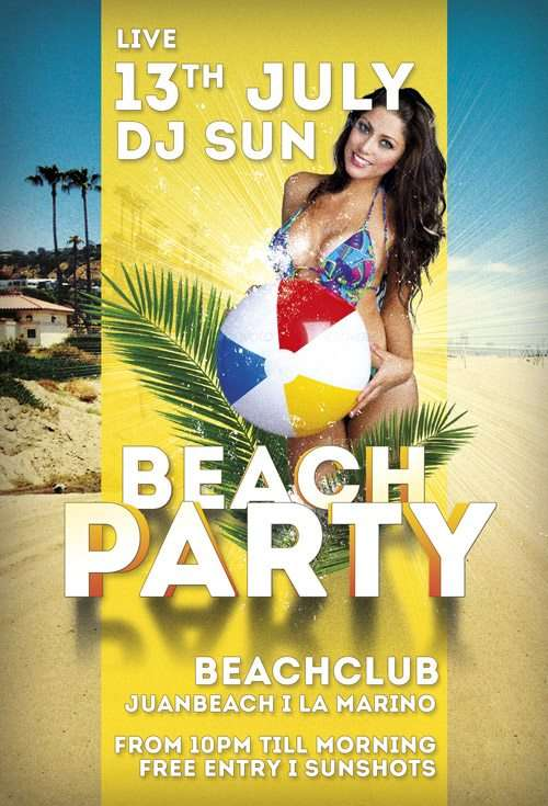 Free Beach Club Party Flyer Template Download Summer Freebie Flyers – Beach Party Flyer Template