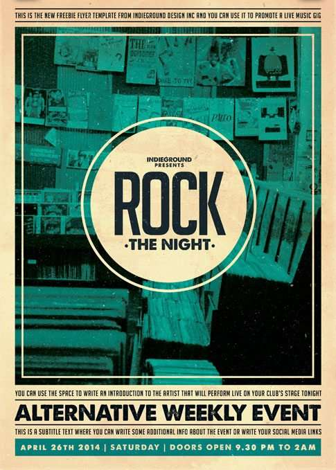 Freepsdflyer Indie Rock Party Free Psd Template Download Indie