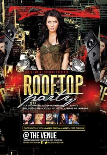 Rooftop Party Free PSD Flyer Template