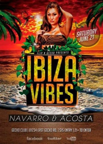 free flyer ibiza vibes flyer template