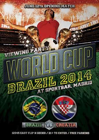 free flyer worldcup brazil 2014 soccer fussball flyer template