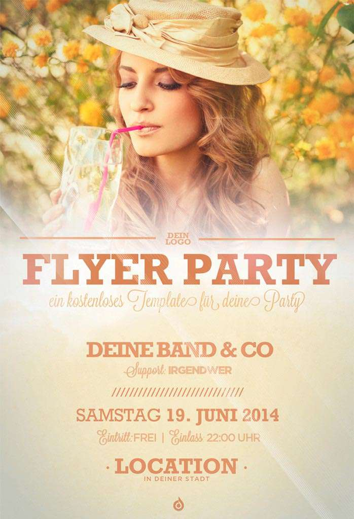 Summer Party Free Party Flyer Template