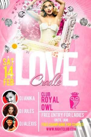Love Candle Party Free Flyer Template