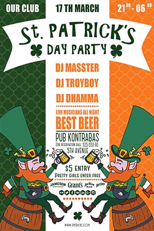 Saint Patrick's Day Free PSD Flyer Template