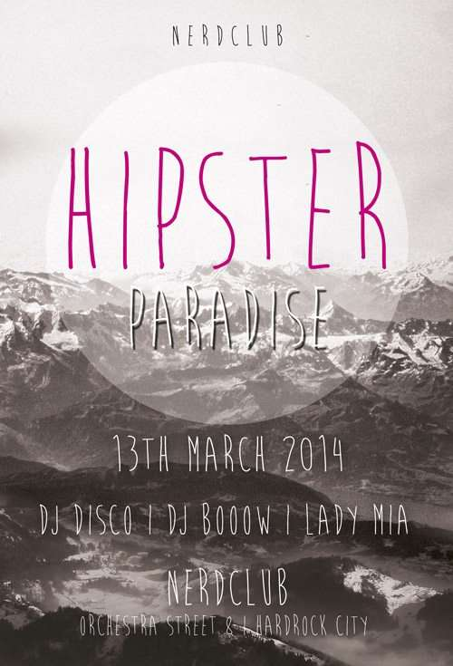 Free Flyer: Hipster Paradise Flyer