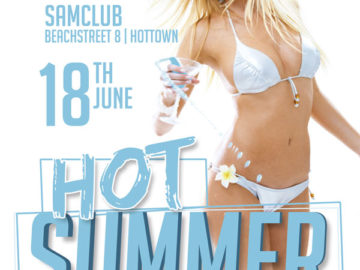 Hot Summer Party Free PSD Flyer Template