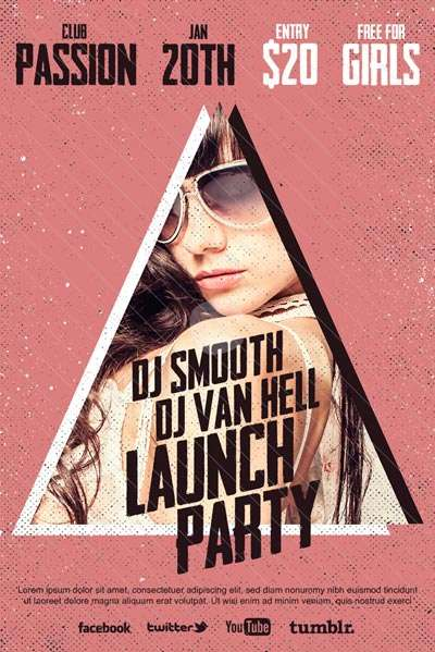 Launch Party Free Flyer Template