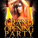 Free Grand Opening Party Flyer Template Vol.2