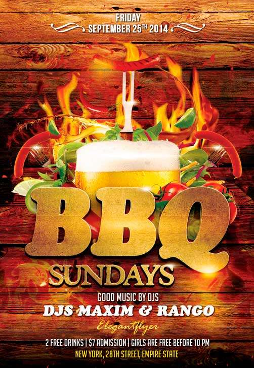 freepsdflyer barbecue party free flyer psd template download psd