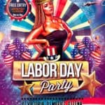 labor day free psd flyer template