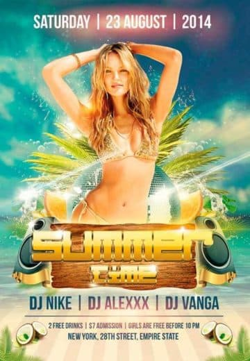 Summer Time Free Flyer PSD Template