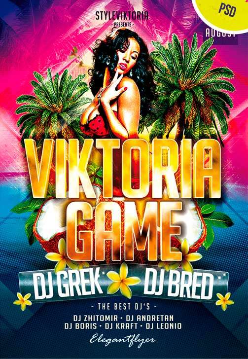Viktoria Game Free Flyer PSD Template