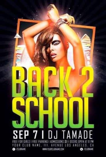 Free Flyer: Back 2 School Party Flyer Template