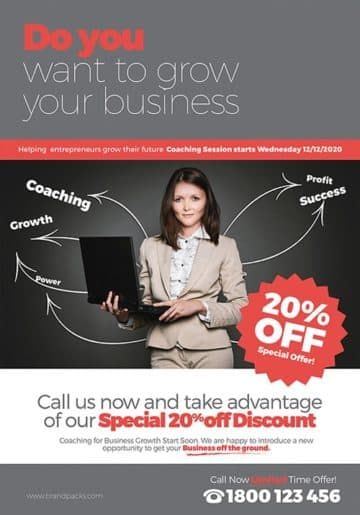 Free Business Coach Flyer Template