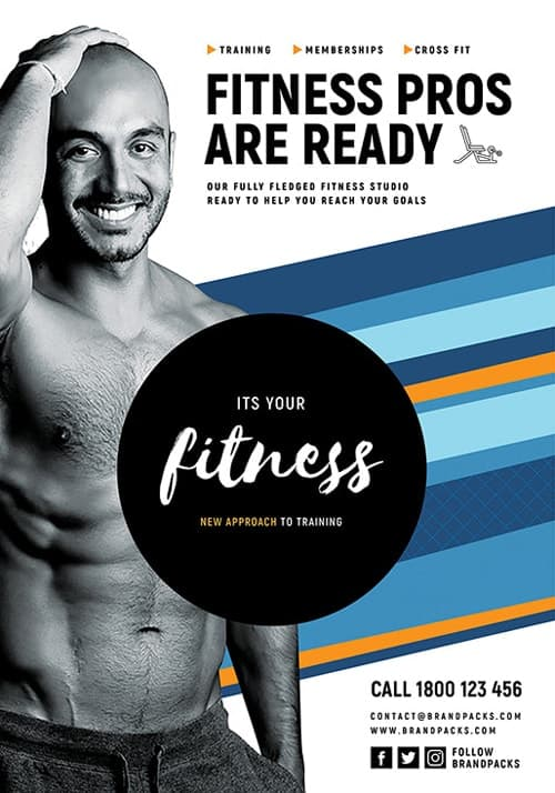 Free Fitness Gym Flyer Template