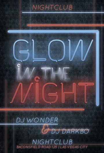 Glow Night Free PSD Flyer Template