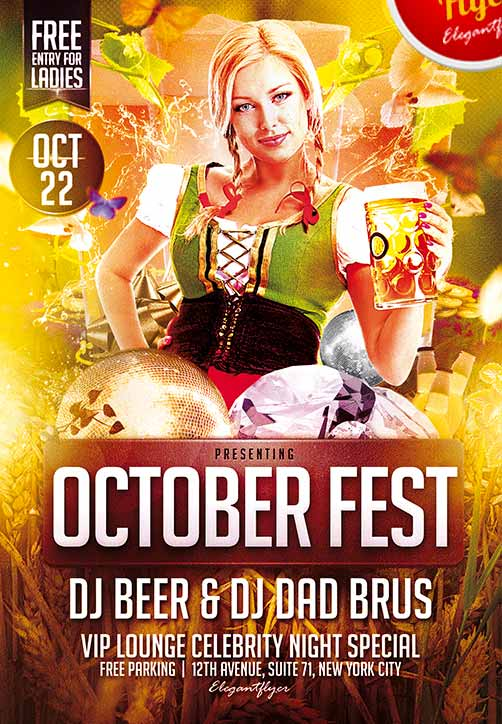 Free Flyer Free October Fest Flyer Psd Template