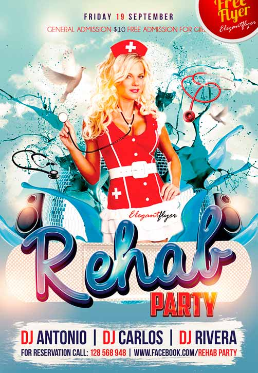 party Free Club Flyer PSD Template – Club Flyer