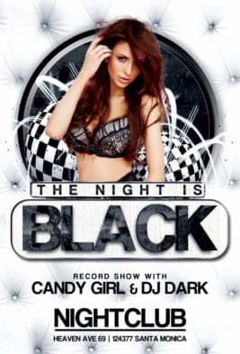 Free Black Night Club Party Flyer Template