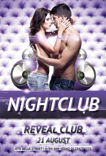 Free Nightclub Party Flyer Template