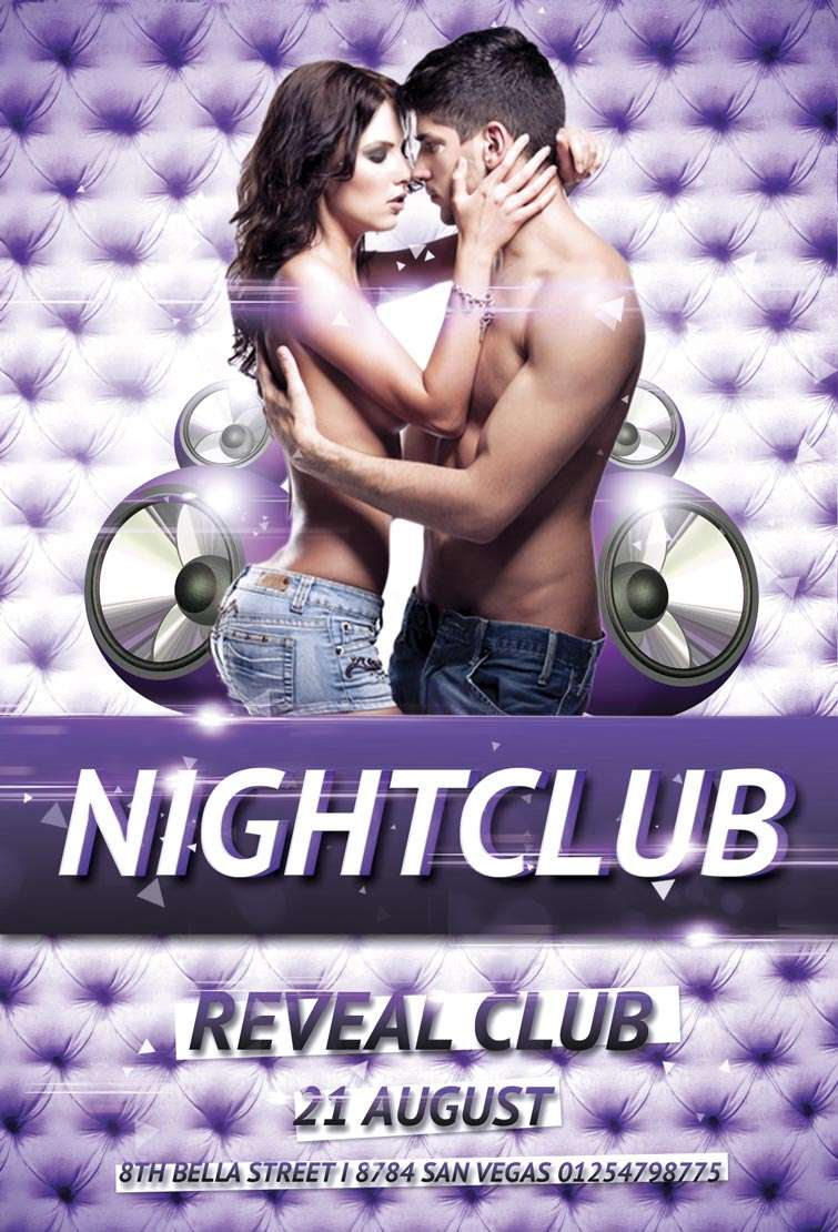 Free nightclub party psd flyer template download for Free club flyer templates