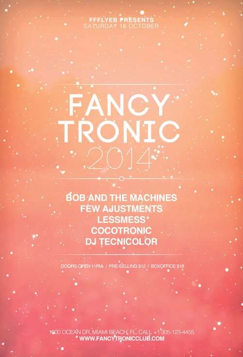 free fancy tronic indietronic club flyer template