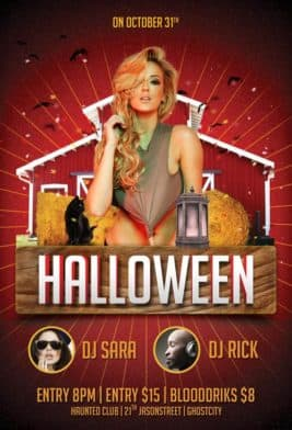 freepsdflyer download free halloween flyer psd templates for