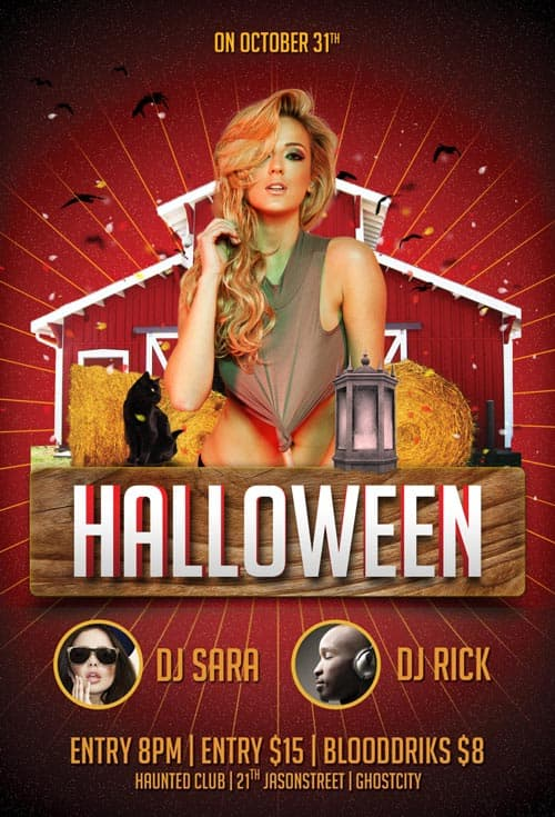 FreePSDFlyer Download The Free Halloween Party PSD Flyer Template - Free halloween flyer templates