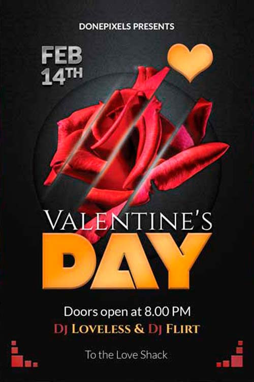 Download the Valentine's Day Free PSD Flyer Template