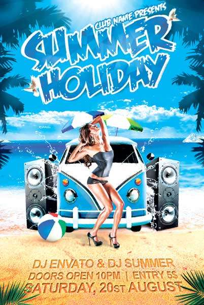 Free Summer Holiday Flyer Template  Download Free Flyer For Photoshop