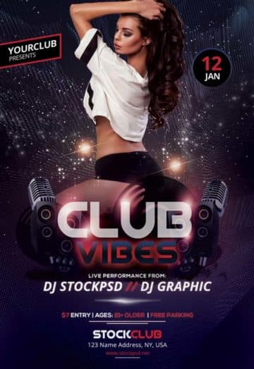 Club Vibes Party Flyer Template