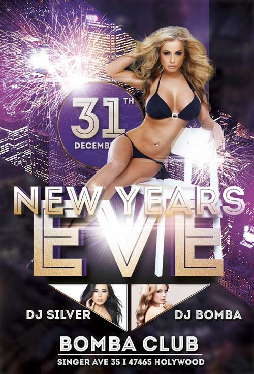 Free New Years Eve Flyer Template