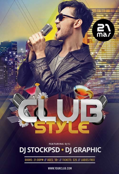 Club Style Free Flyer Template