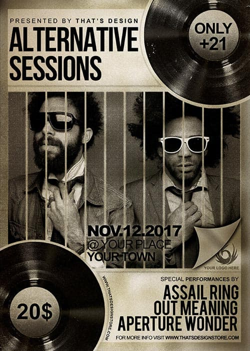 Freepsdflyer  Free Music Live Psd Flyer Template  Download Free