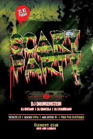 Scary Party Free Flyer Template