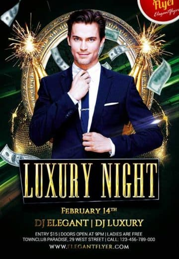 Free Luxury Night Flyer PSD Template