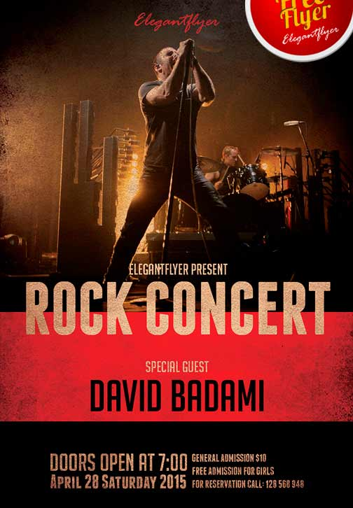 Rock Concert Free Flyer Template