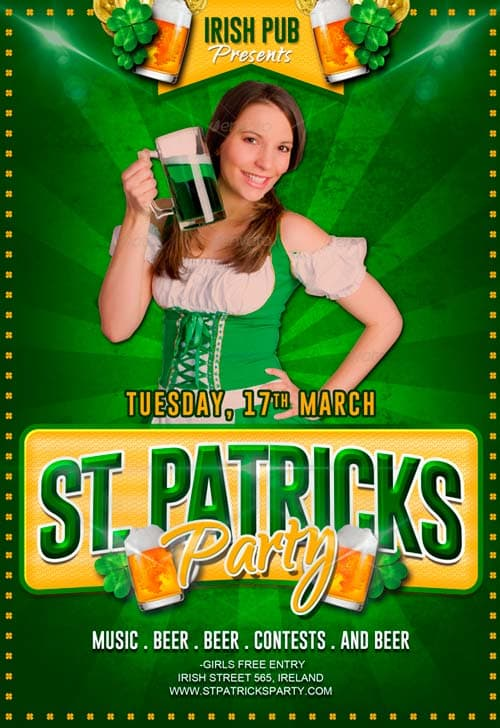 Free St. Patricks Party Flyer PSD Template