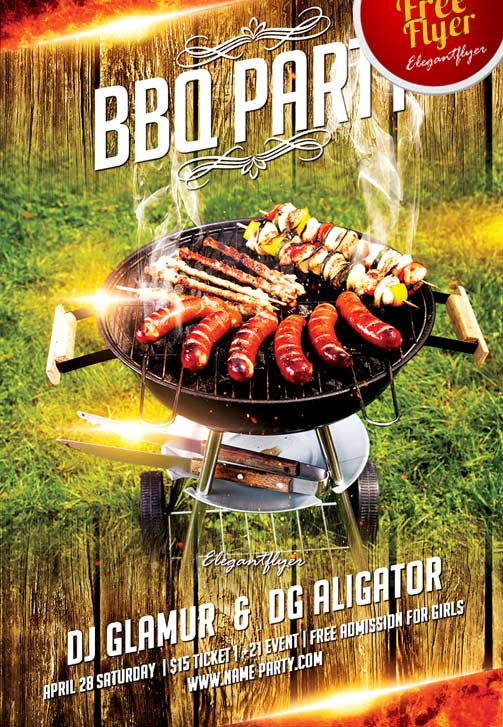 Freepsdflyer  Free Bbq Party Flyer Template Download