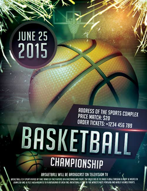Free Basketball Sports Flyer Template
