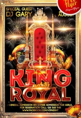 Free King Royal Party Flyer Template