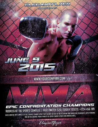 Free MMA Boxing Sports Flyer Template