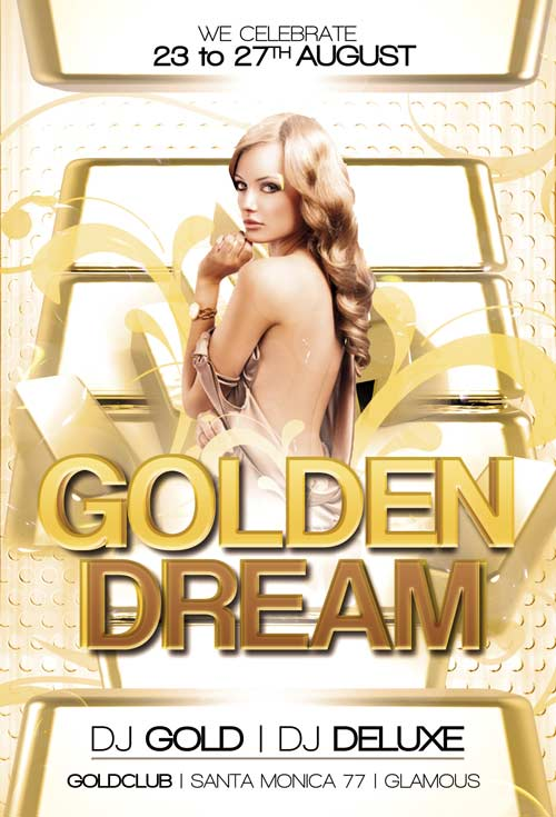Golden Club Free Flyer Template