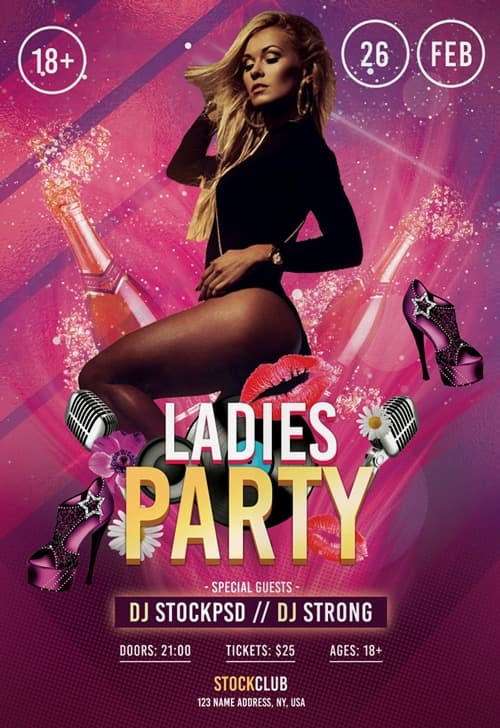 Ladies Party Free Flyer Template